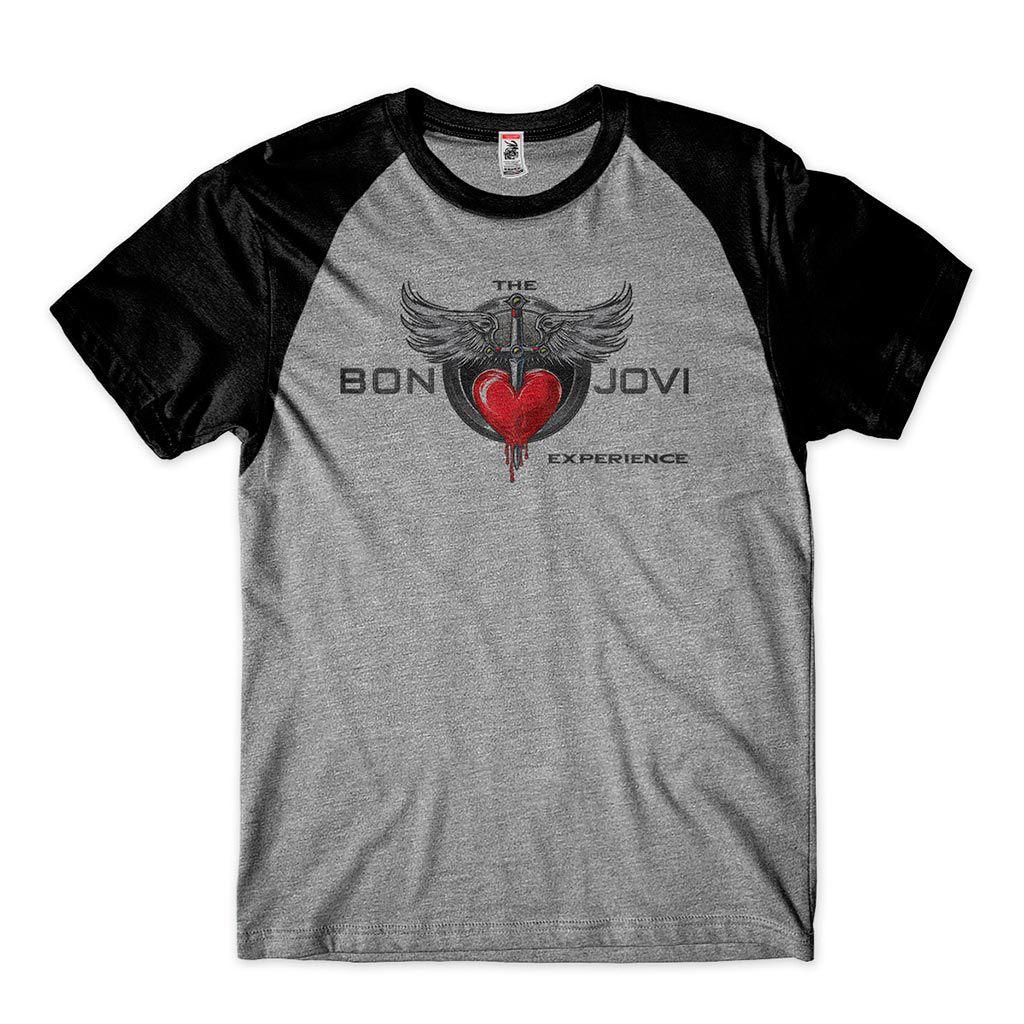 camiseta the bon jovi experience coracao