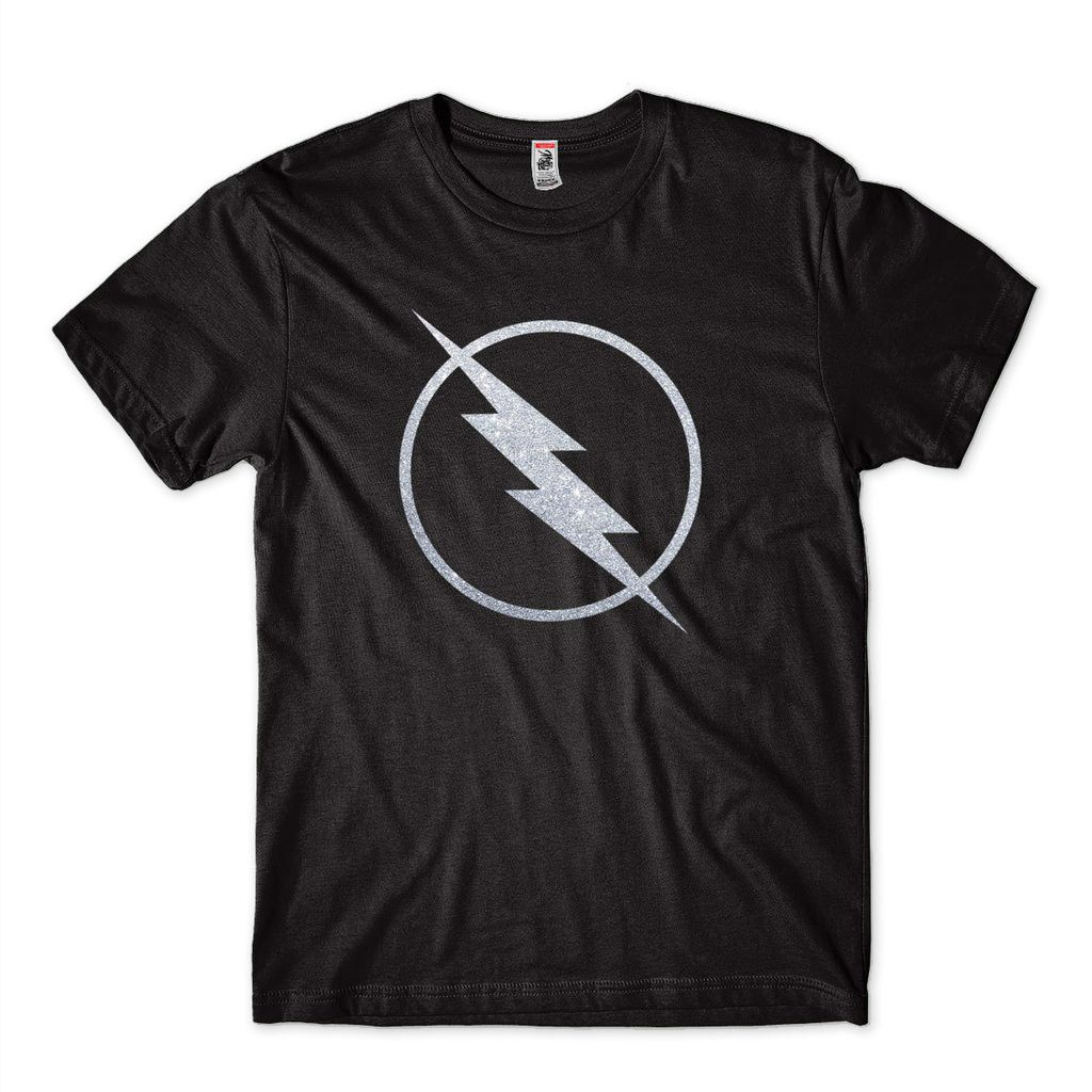 Camiseta The Flash Super Heroi DC Comics Blusa Masculina Adulto Prateada