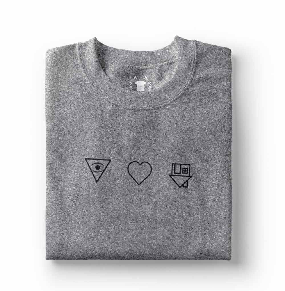 camiseta the neighbourhood nbhd cinza