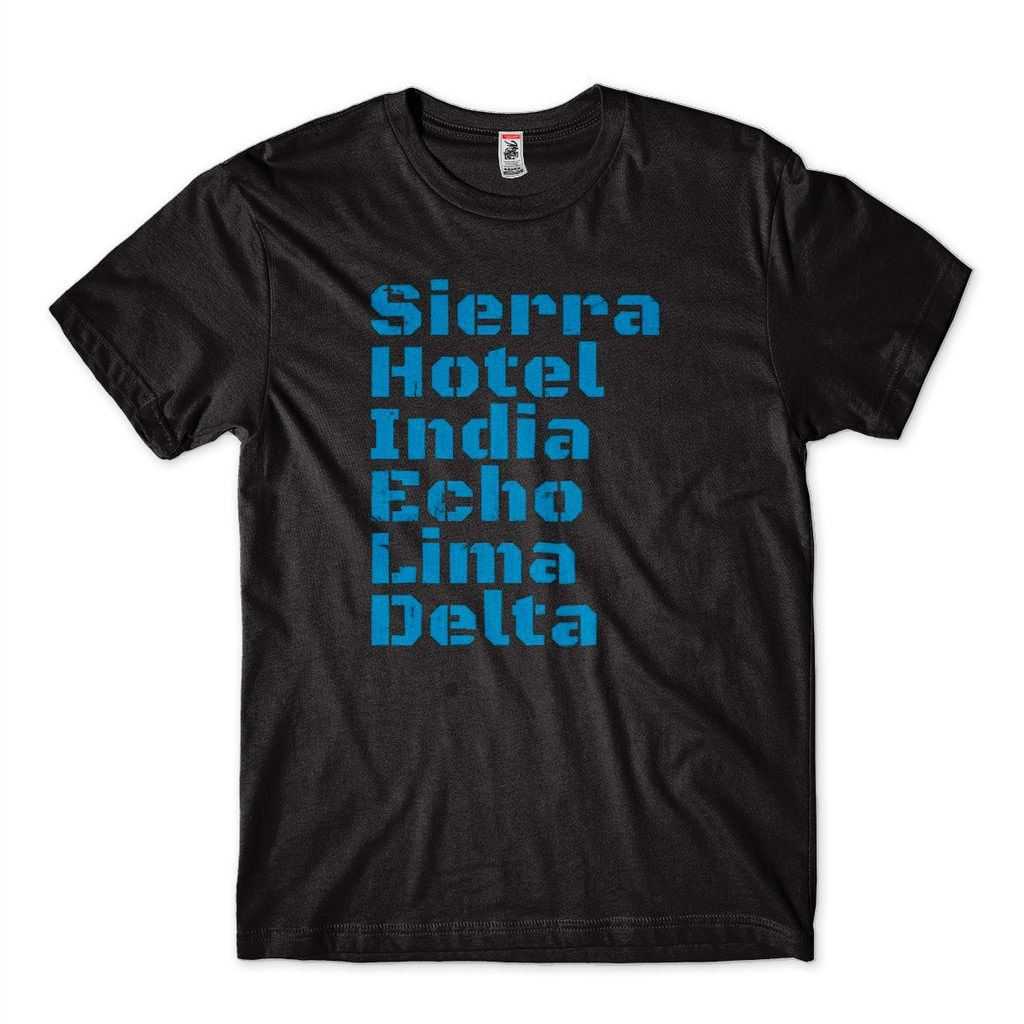 Camiseta The Shield Spell It Out Sierra Hotel India Echo Lima Delta