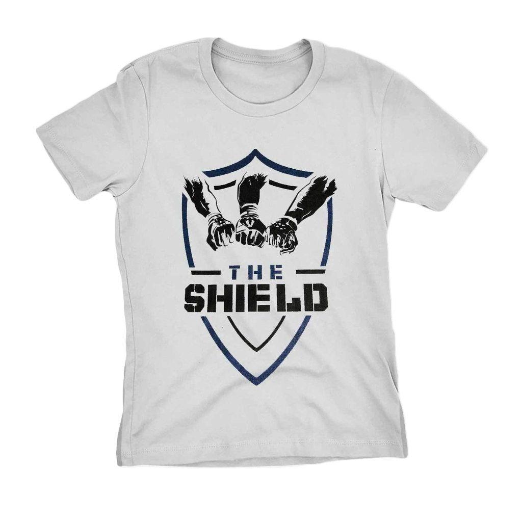 Camiseta The Shield Wwe Feminina Wrestling Blusa Camisa