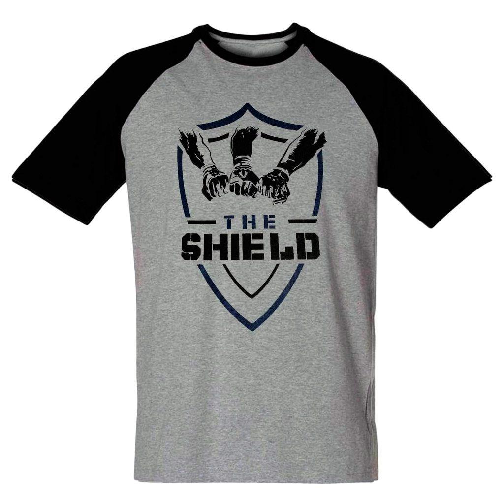 Camiseta The Shield Wwe Masculina Wrestling Blusa NXT Escudo