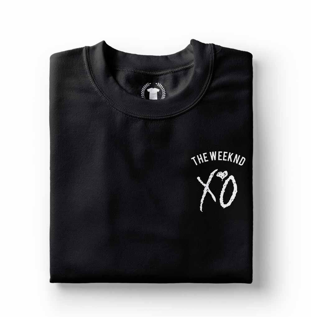 Camiseta The Weeknd Xo preta estampada
