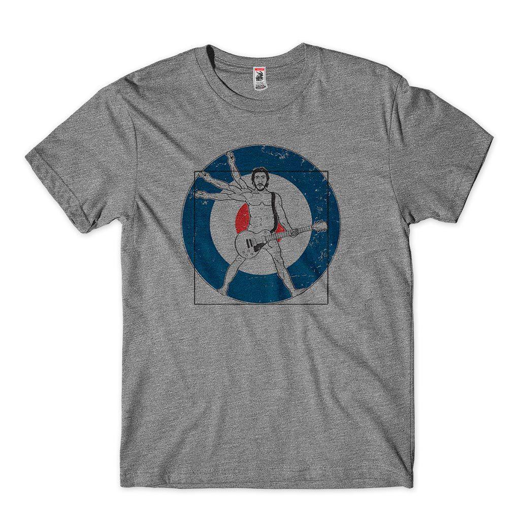 camiseta the who homem vitruviano guitarra