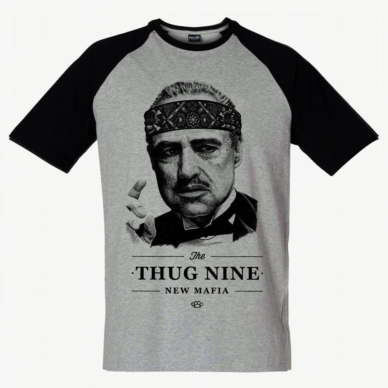 camiseta thugnine new mafia swag poderoso chefao