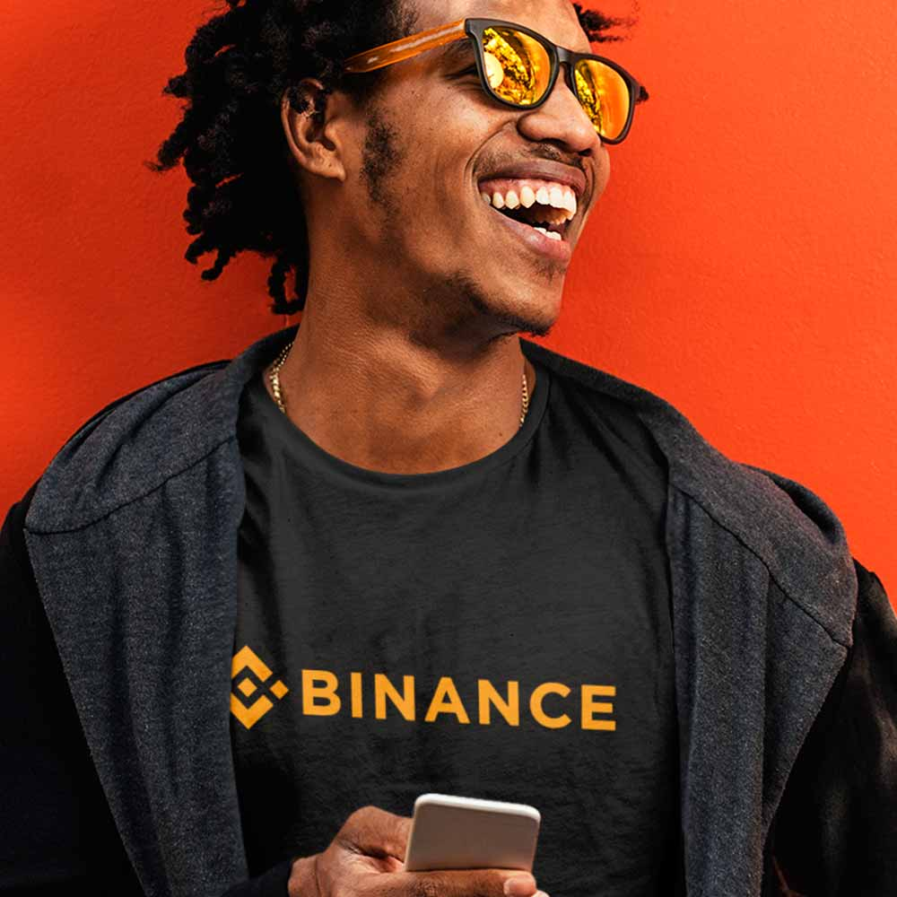 camiseta trading binance criptomoeda