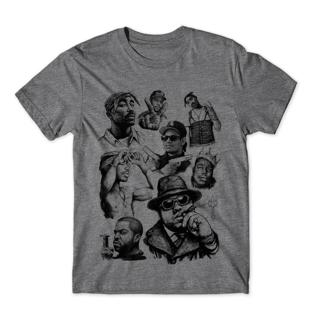 camiseta tupac biggie masculina camisa lendas rap promocao
