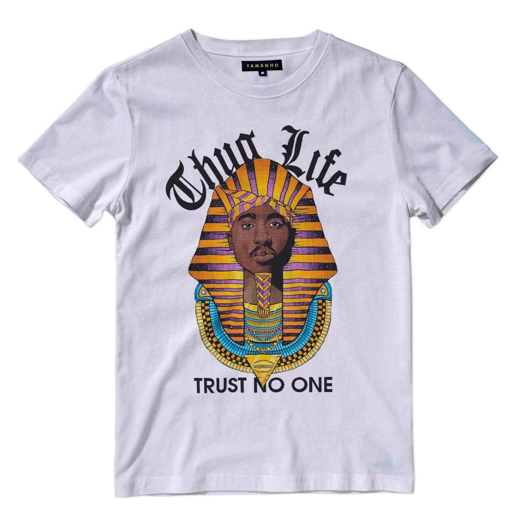 camiseta tupac shakur 2pac thug life egipcio camisa barata