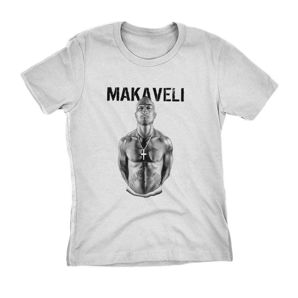 camiseta tupac shakur makaveli branca lendas do rap