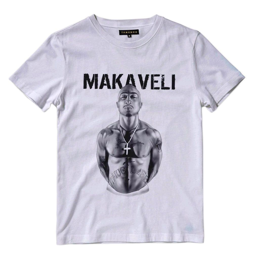camiseta tupac shakur makaveli estampa de rap barata