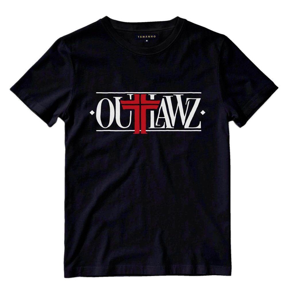 camiseta tupac shakur outlaws makaveli preta