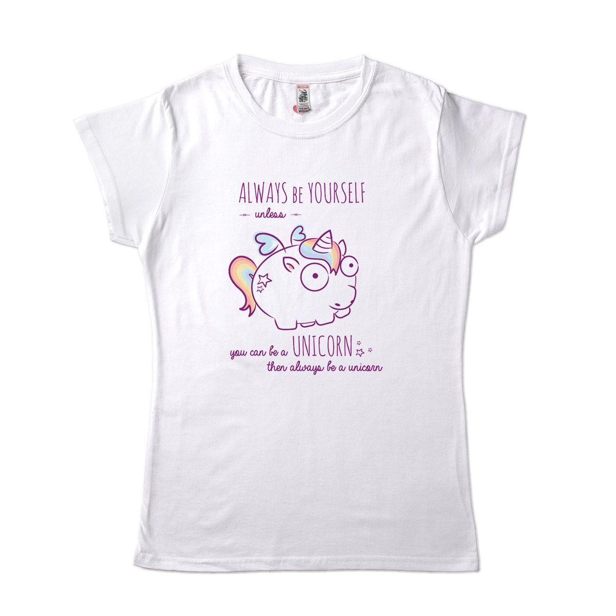 camiseta unicornio seja voce mesmo