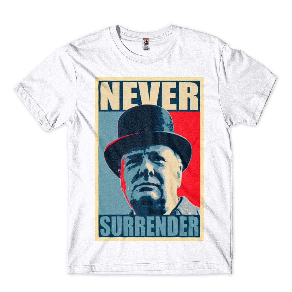 Camiseta Winston Churchill nunca se renda
