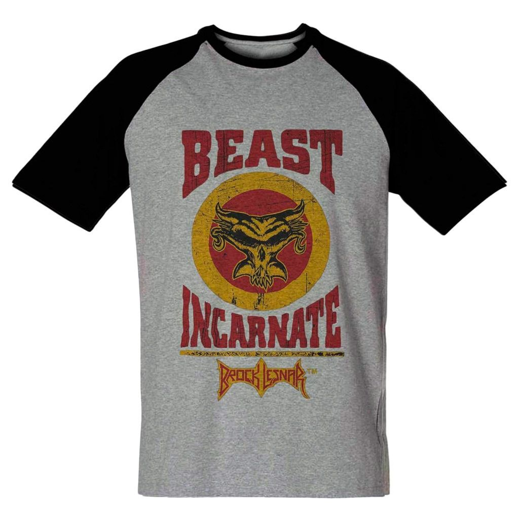 Camiseta Wrestlemania Brock Lesnar Beast Incarnate Raglan
