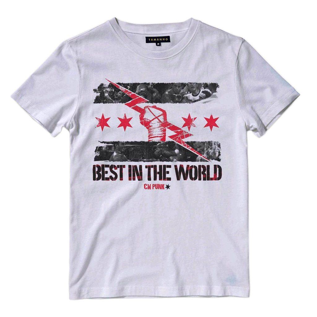 Camiseta Wrestling Cm Punk Wwe Camisa Masculina Branca