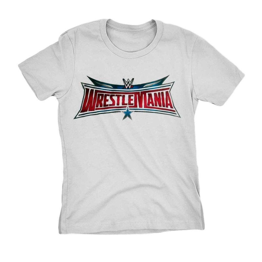 Camiseta Wrestling Wrestlemania Wwe Blusa Camisa Feminina