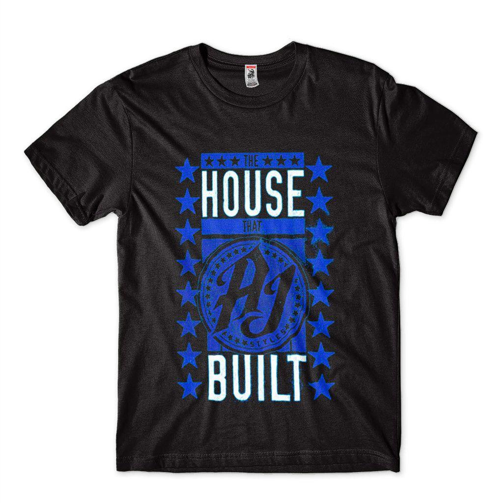 Camiseta WWE Aj The House That Aj Styles Built Preta