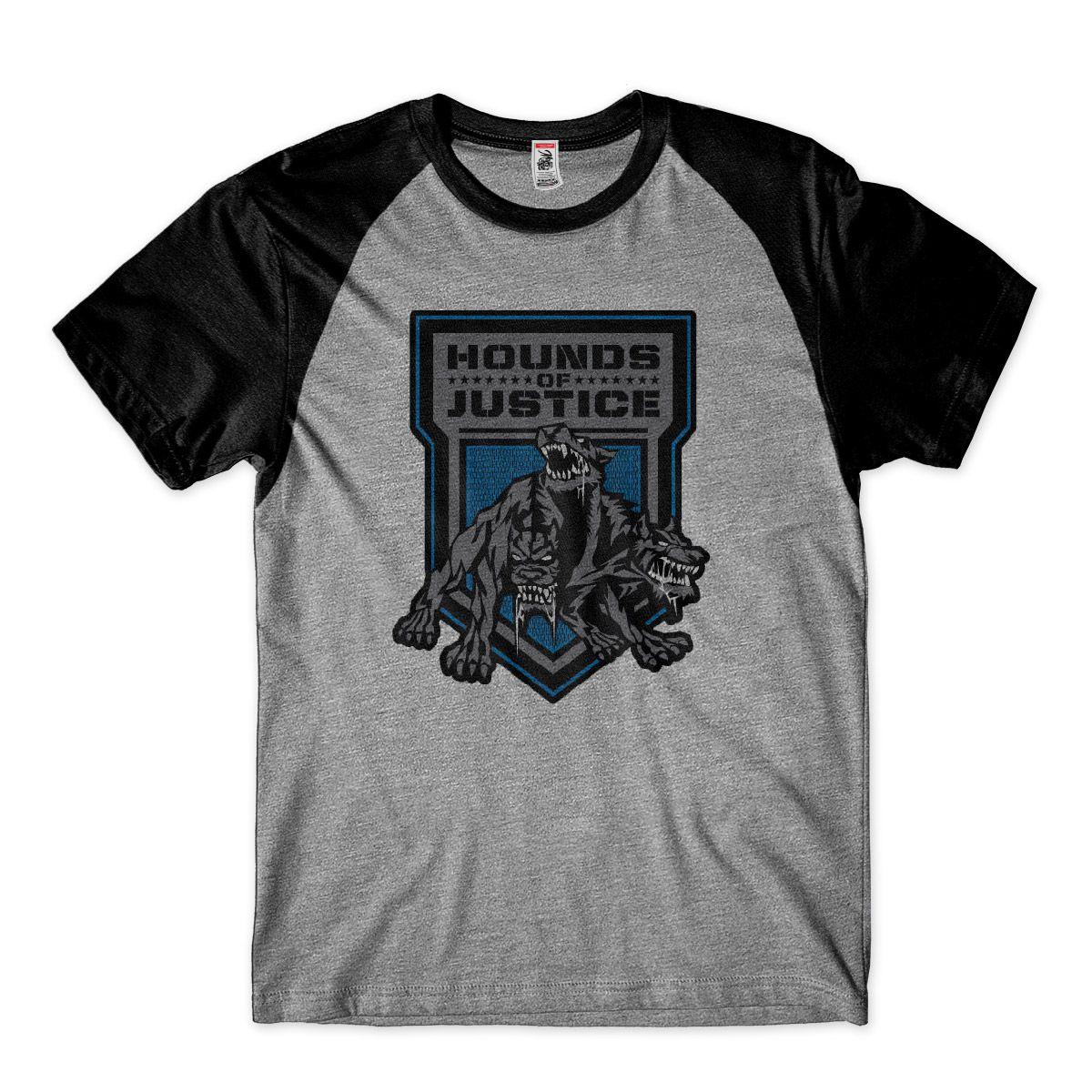 Camiseta Wwe Hound Of Justice Roman Reigns Wrestling