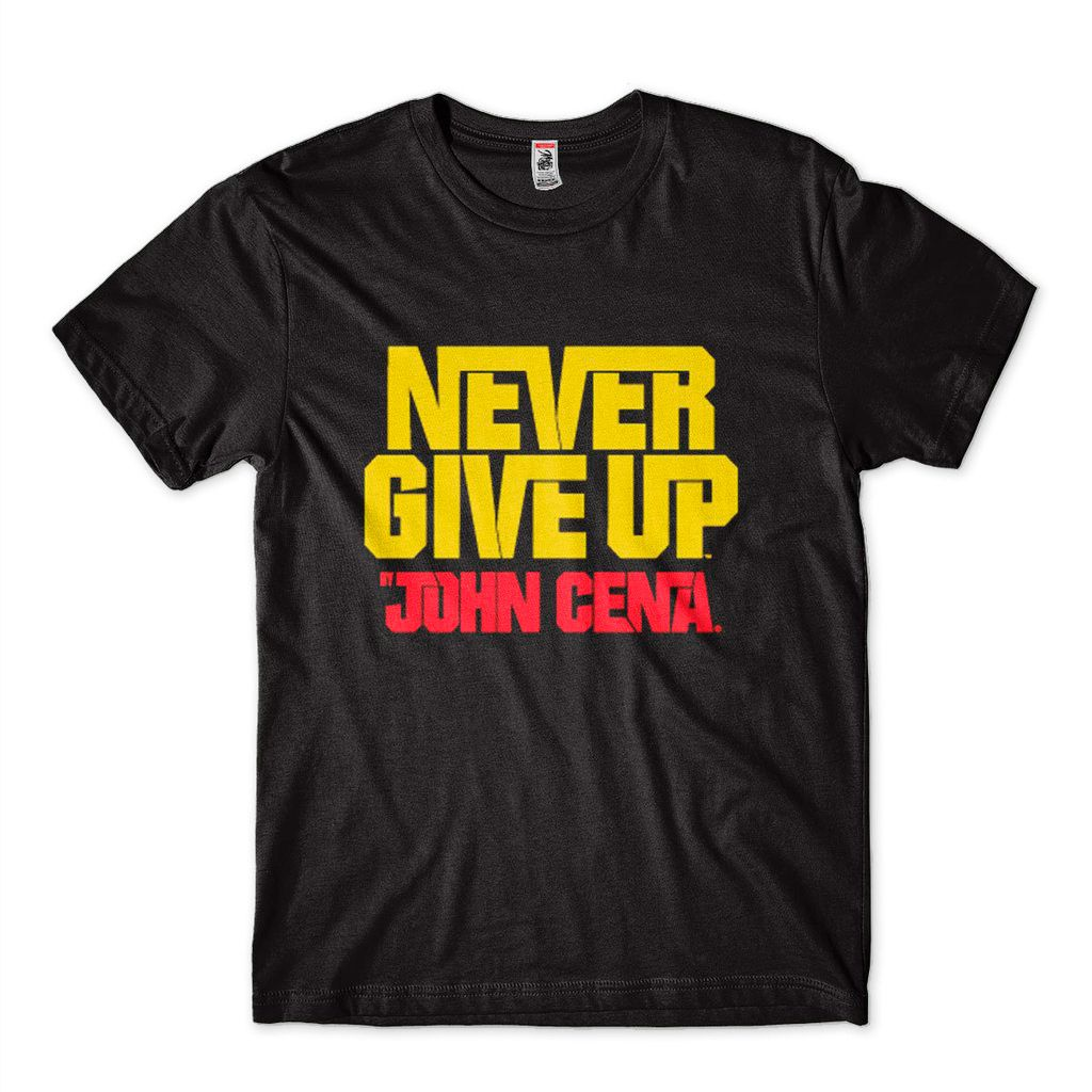 Camiseta Wwe John Cena Never Give Up Preta Masculina