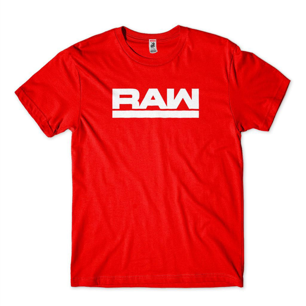 Camiseta Wwe Raw Logo Masculina Wrestling Camisa Vermelha