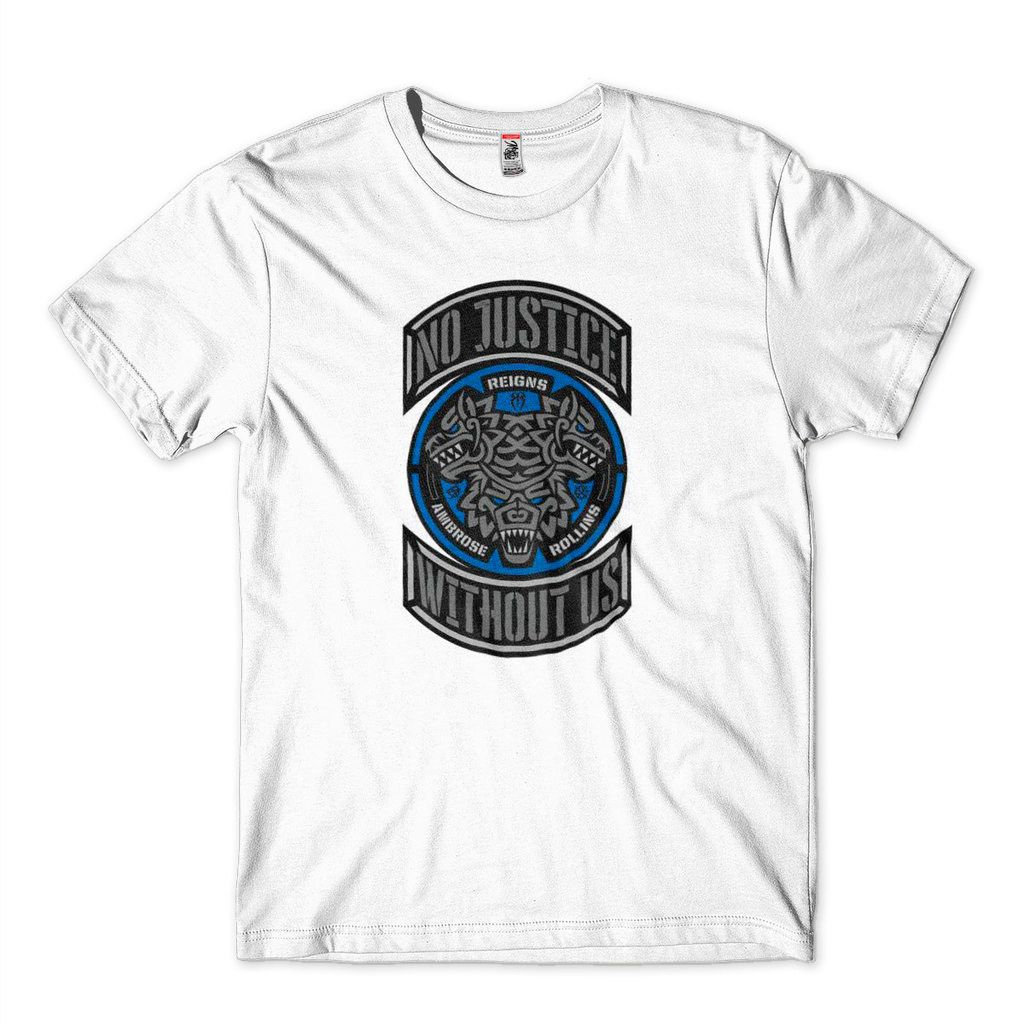 Camiseta Wwe Reigns Ambrose Rollins No Justice The Shield