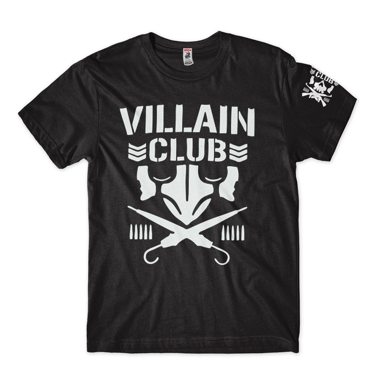 Camiseta Wwe Villain Club Njpw Masculina Pro Wrestling Preta