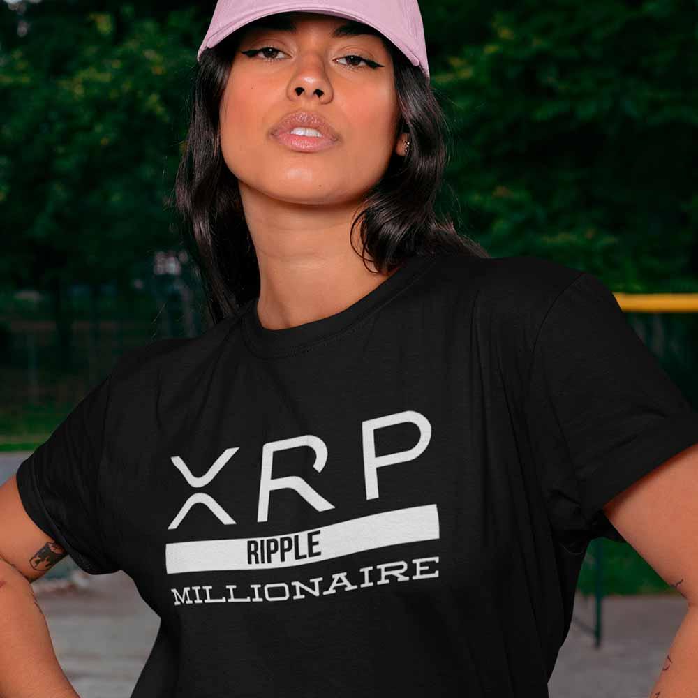 camiseta xrp ripple milionario do futuro