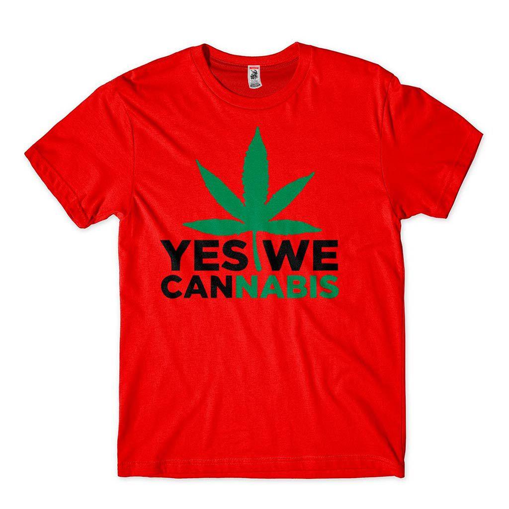 Camiseta Yes We Can Nabis Folha da Erva Camisa Maconha Legalize
