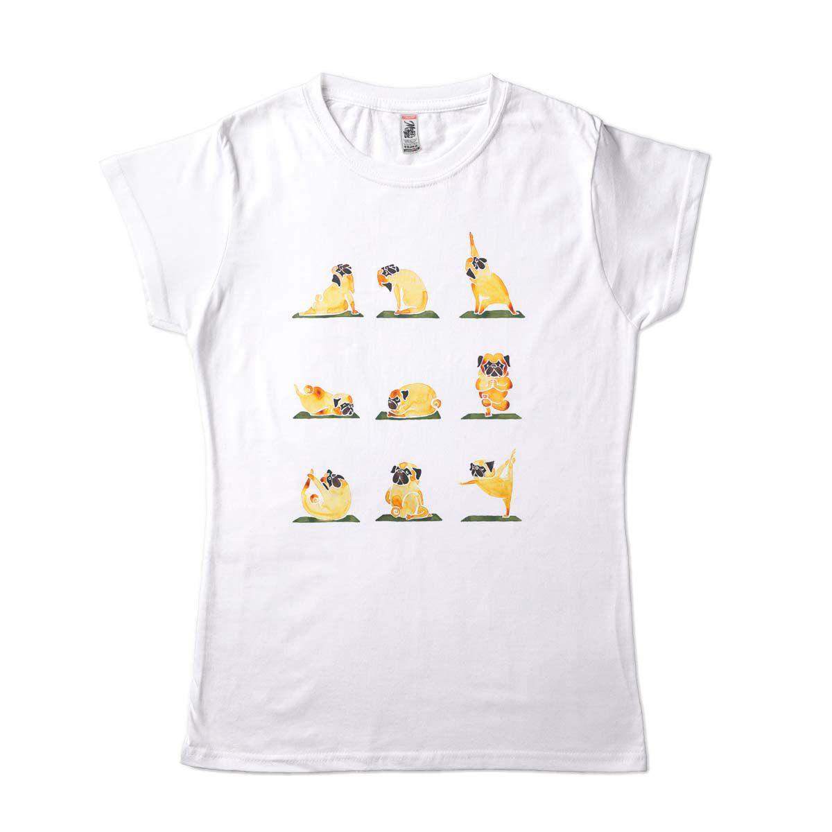 camiseta Yoga Feminina Arvore Cachorro Guerreiro Lotus