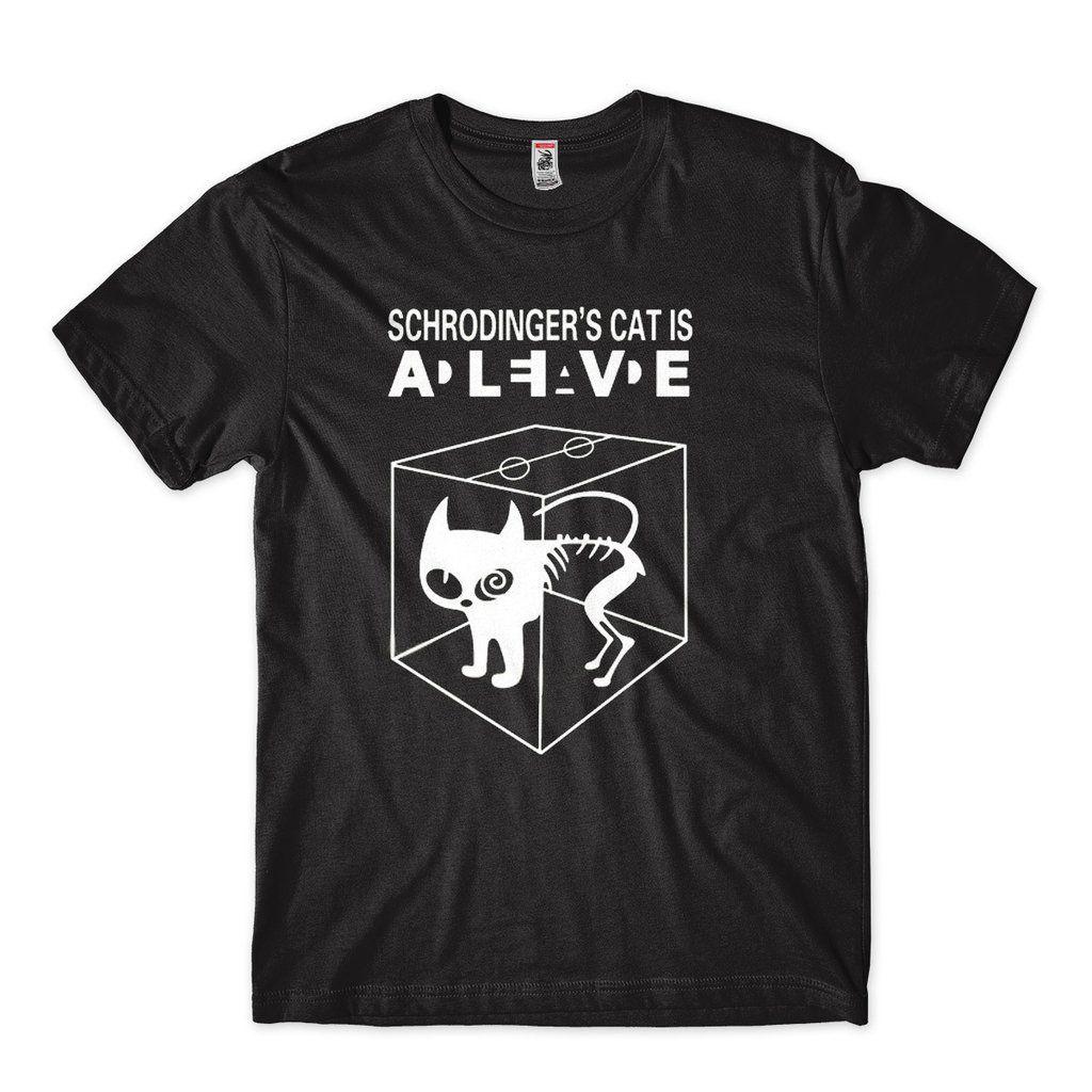 camisetas com temas cientificos gato de schrodinger