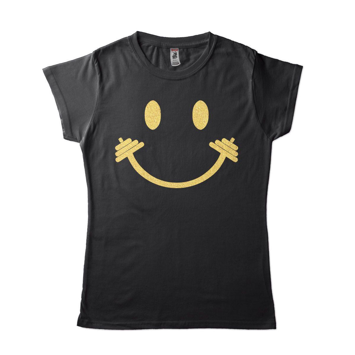 camisetas para academia feminina Musculação Smile
