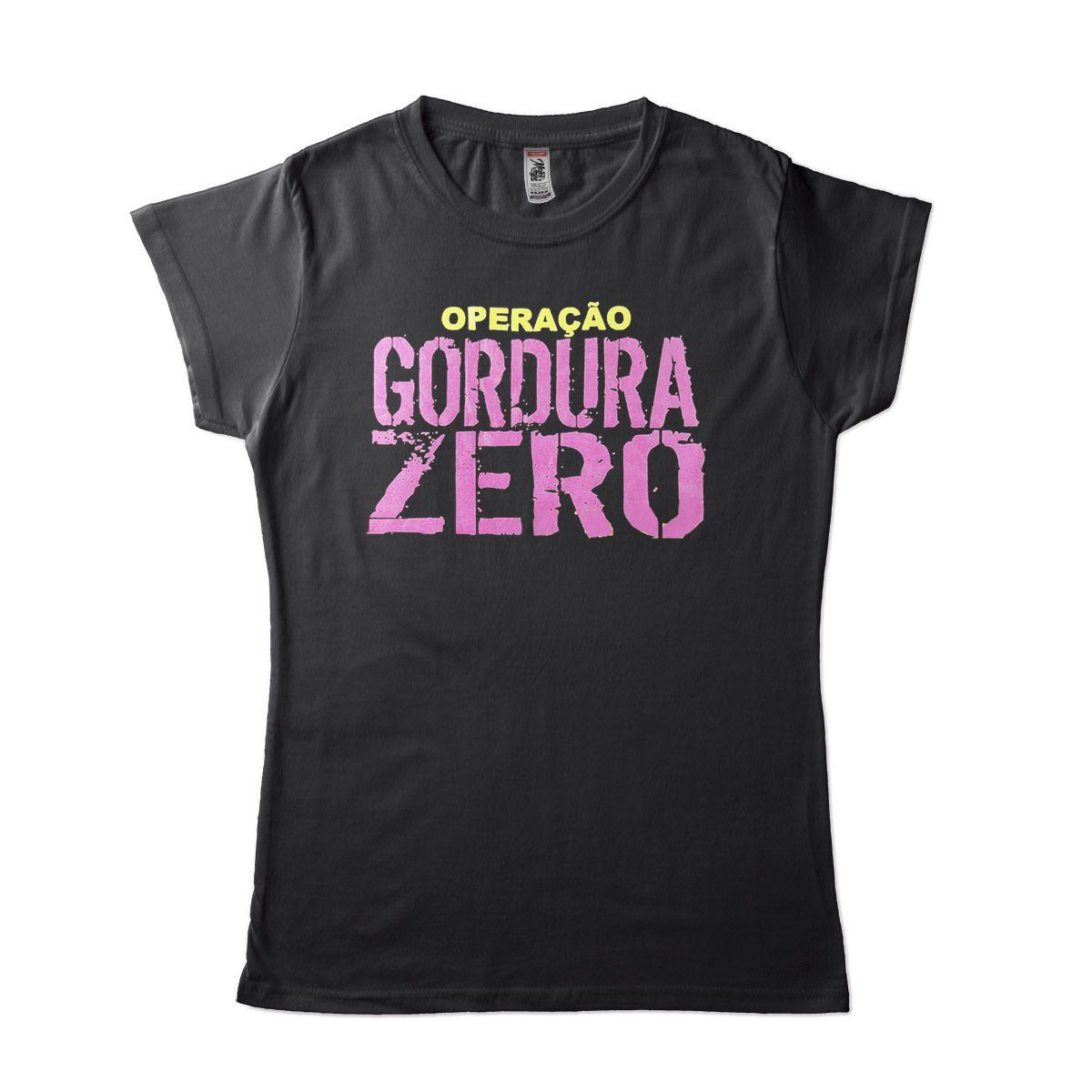 camisetas para academia feminina Operação gordura zero