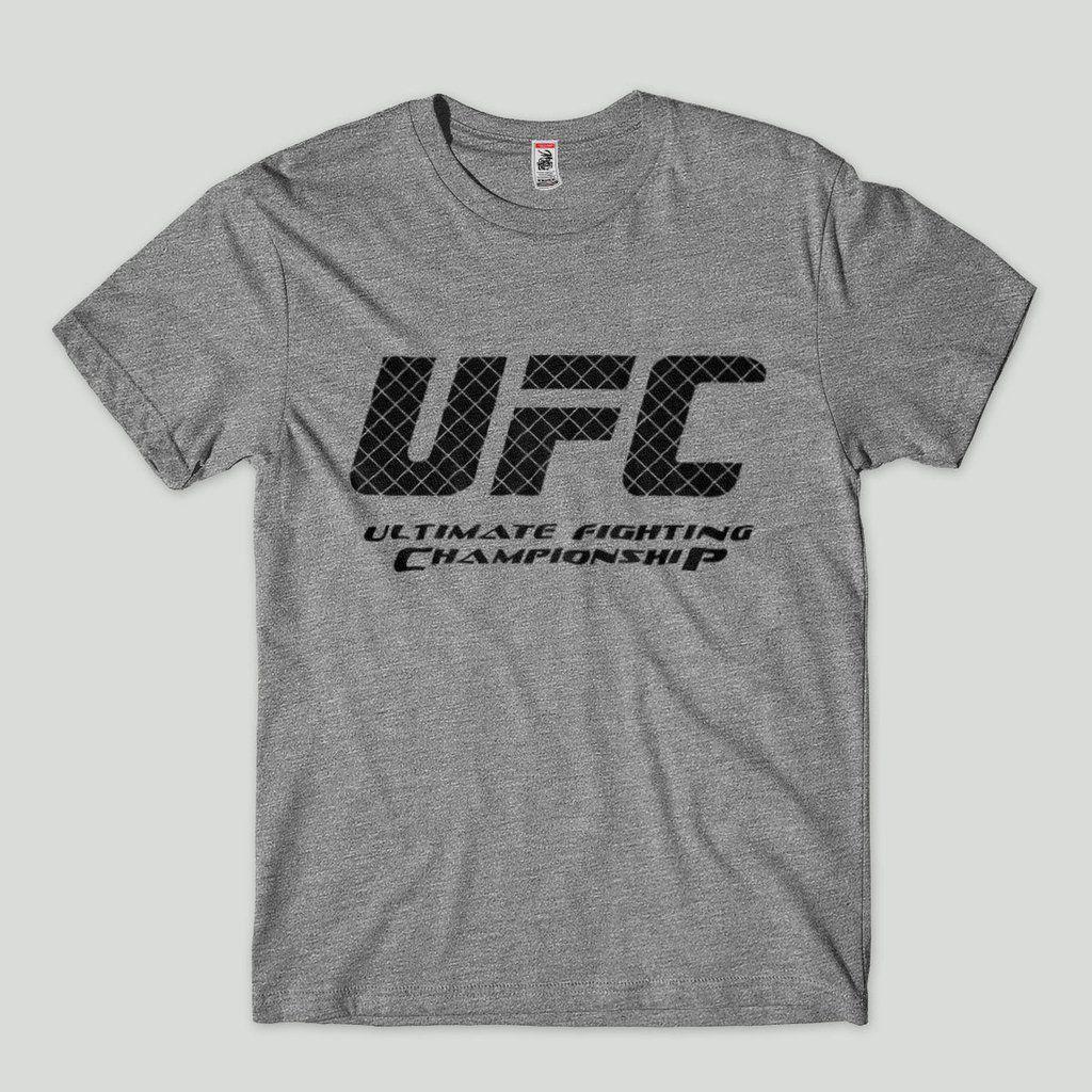 camisetas ufc logo octogono cinza Tamanho G