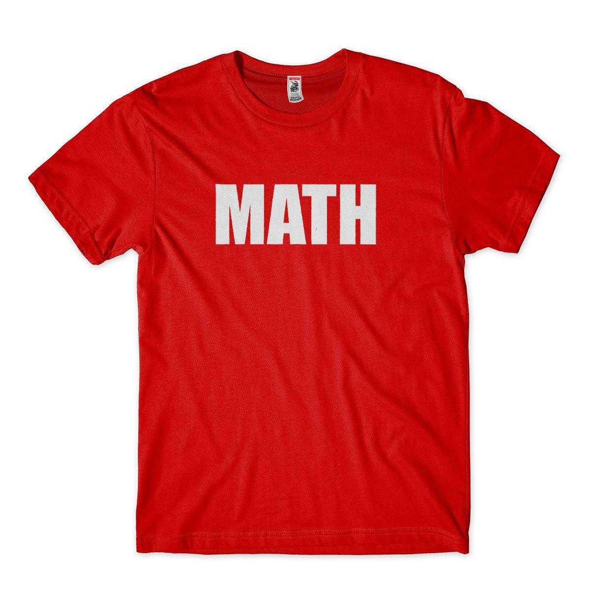 Camisetas Universitarias de Matematica Math Masculina