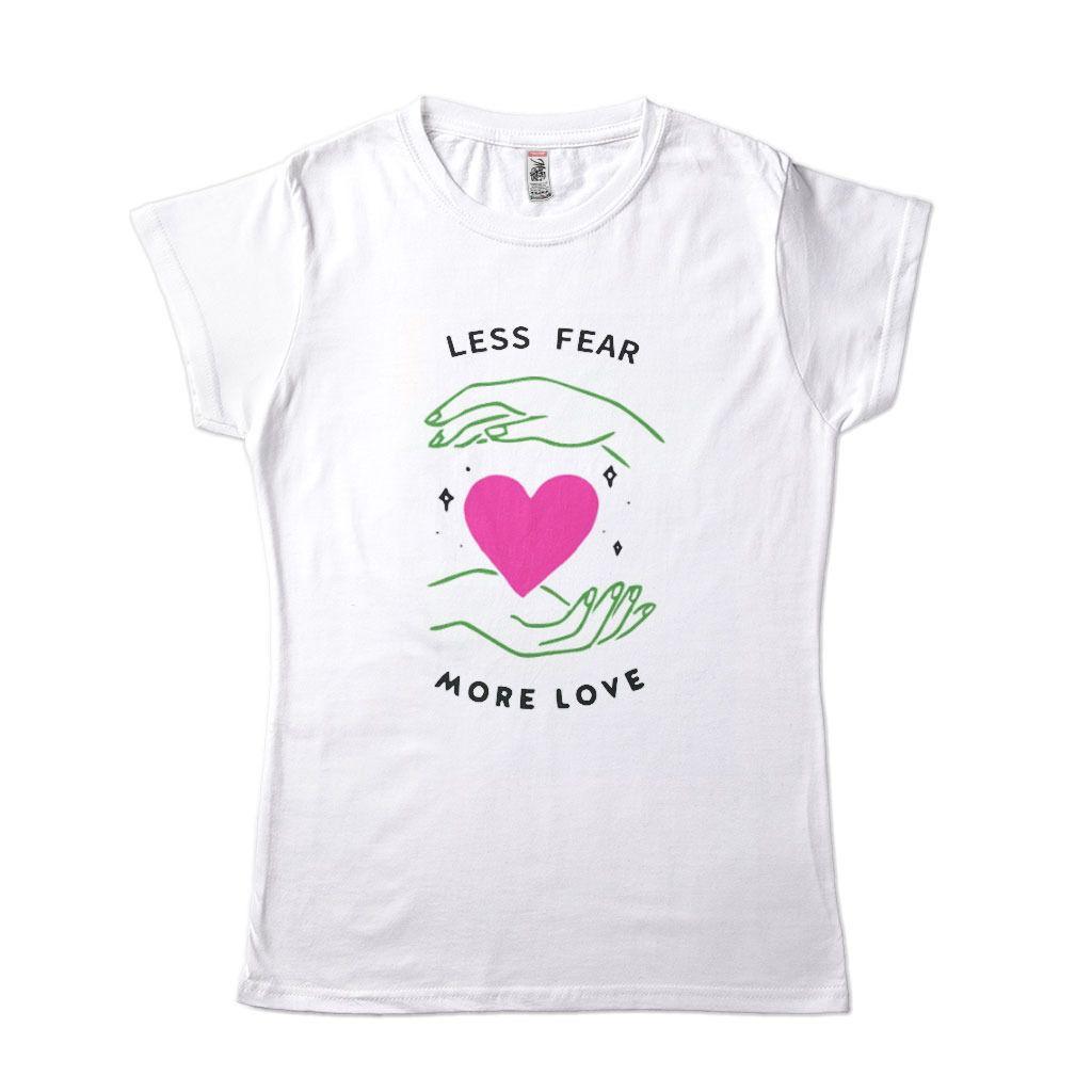 Camiseta Feminina Fear Love Namorada Medo Amor