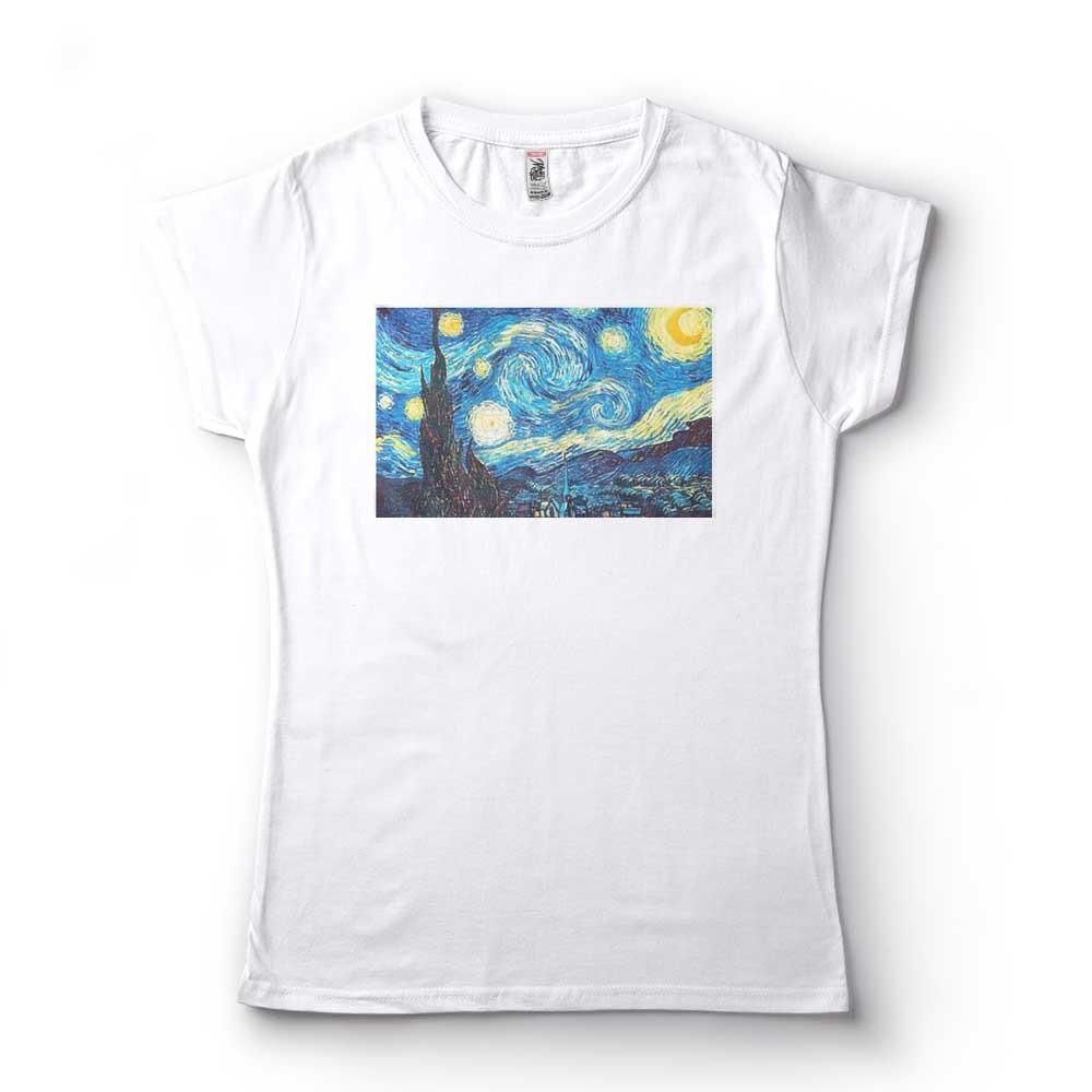 Camiseta  Vincent van Gogh A noite estrelada