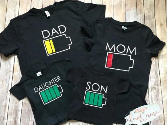 Kit 3 Camisetas Engracadas Pai mãe filho