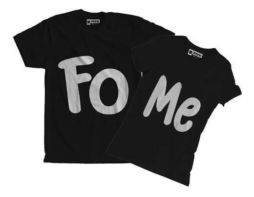 kit camiseta engracada para casal FOME