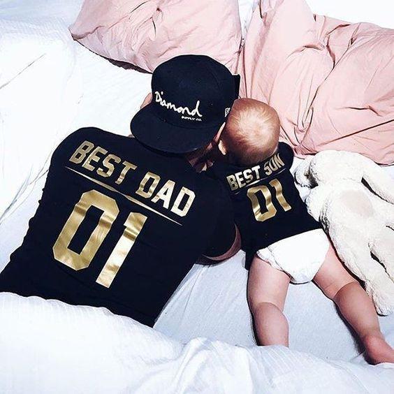 kit camiseta pai e filho igual usar juntos
