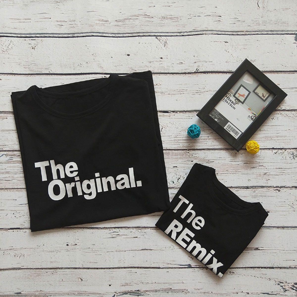 kit camiseta pai e filho the original the remix