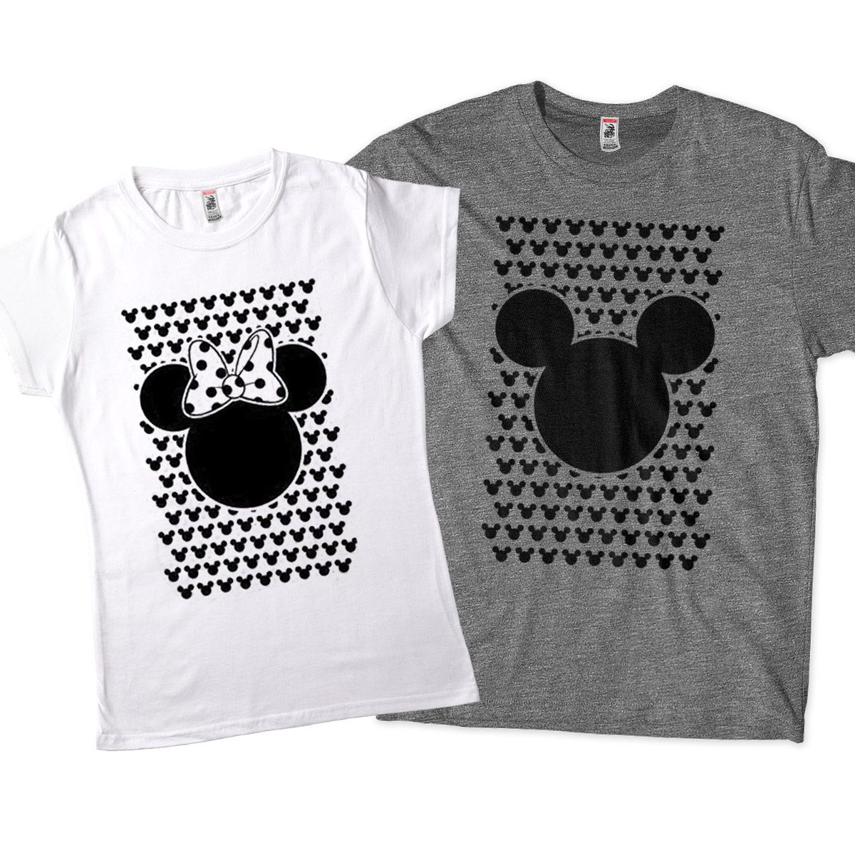 kit camisetas engracadas para casal mickey minnie