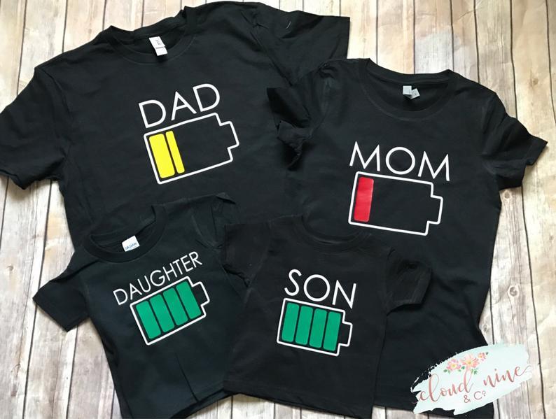 Kit Camisetas Engracadas para pais e filhos bateria