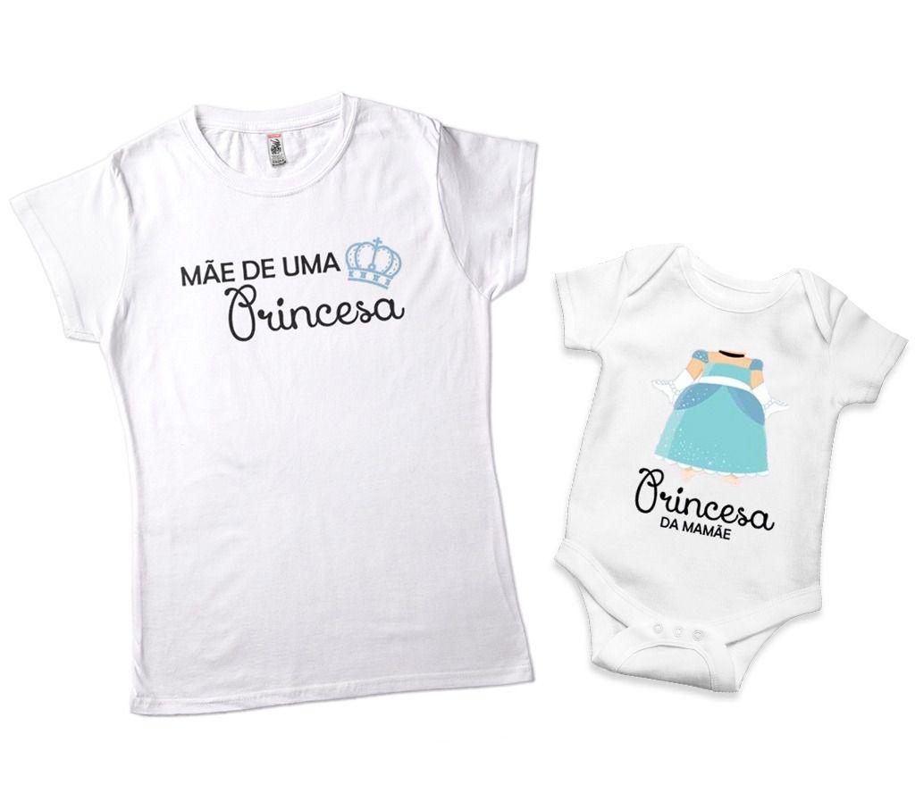 Kit Camisetas Mães Princesas Cinderela Mae Filha