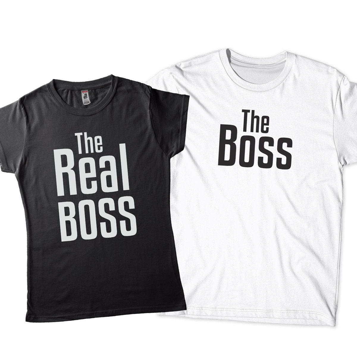 kit camisetas para namorados usarem juntos Real boss