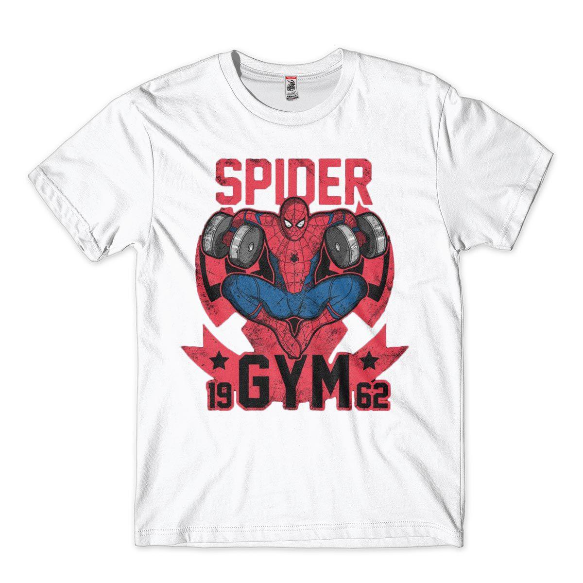 Roupa de Academia Spider Gym Camisa Masculina