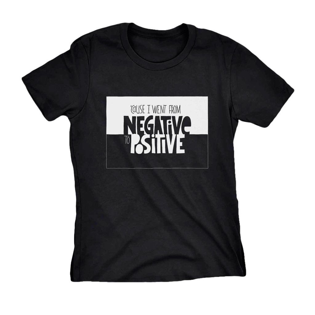T-shirt Estampa de RAP notorious big negative to positive