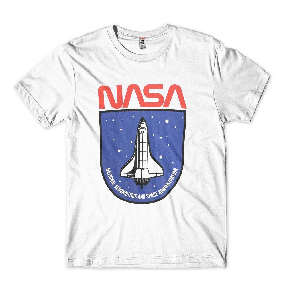 tshirt nasa branca estampada space aeronautics