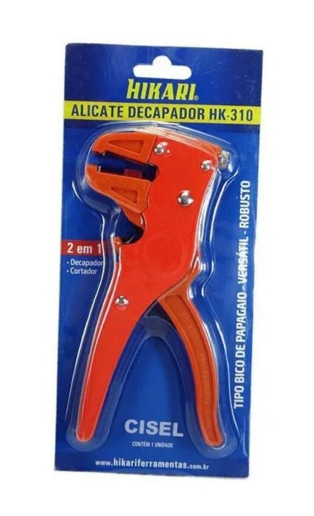Alicate Decapador Cortador De Fios 0,2 A 6mm² Hikari Hk-310