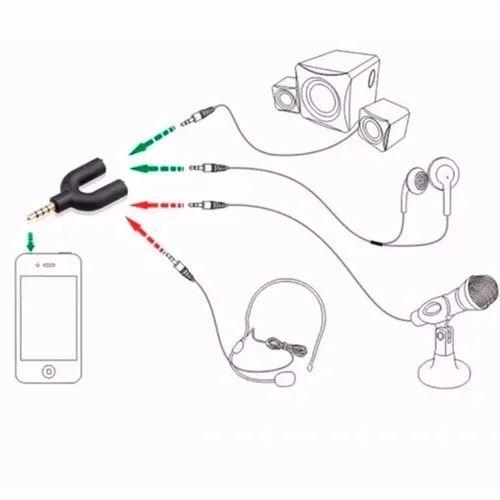 Adaptador P3 Para Fone Microfone P2 Macho X 2 P2 Fêmea