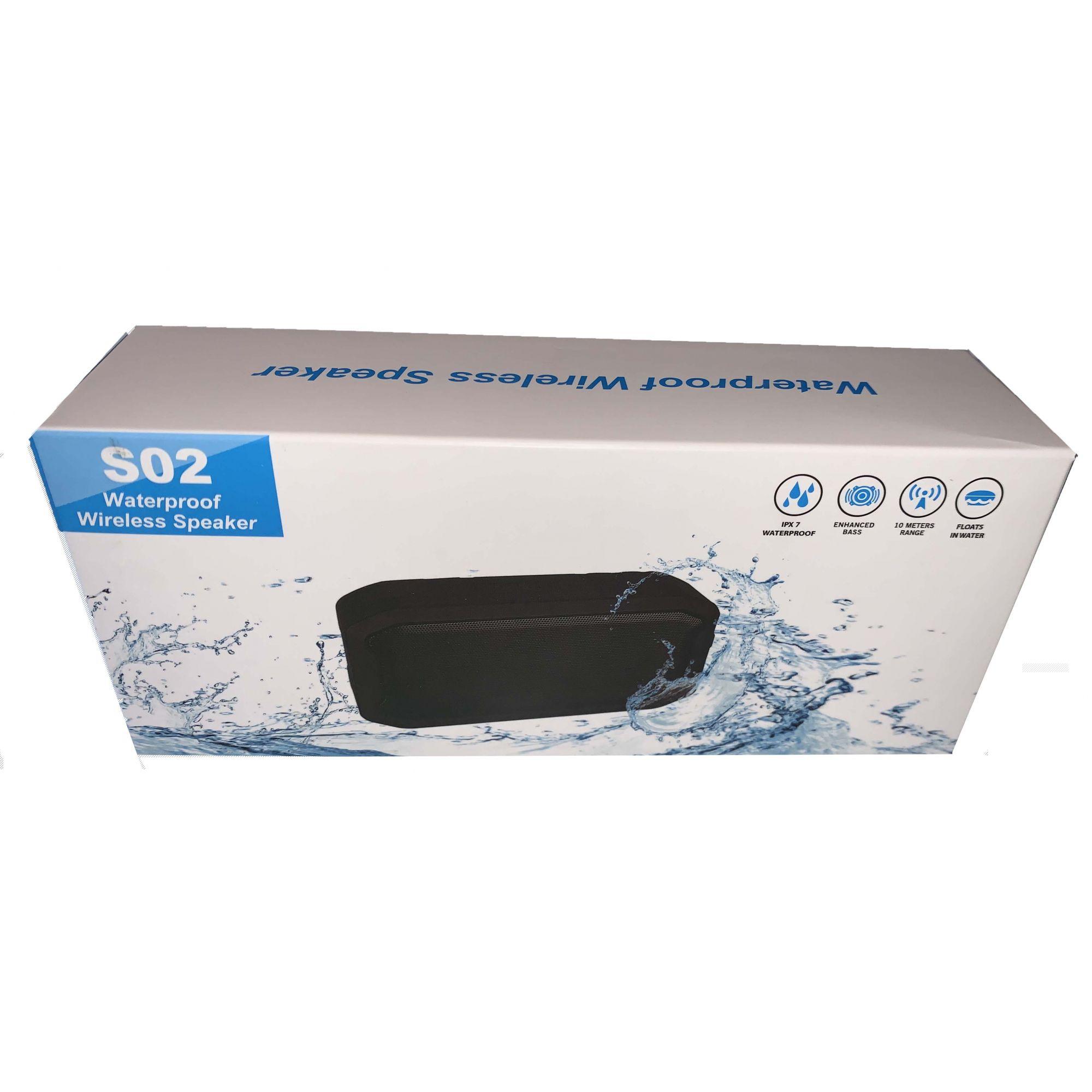 Caixa de som S02 Resistente a Água